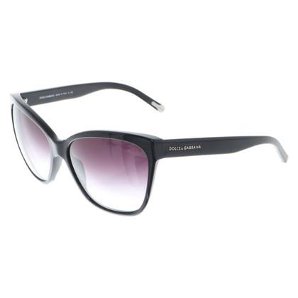 Dolce & Gabbana Sonnenbrille in Schwarz