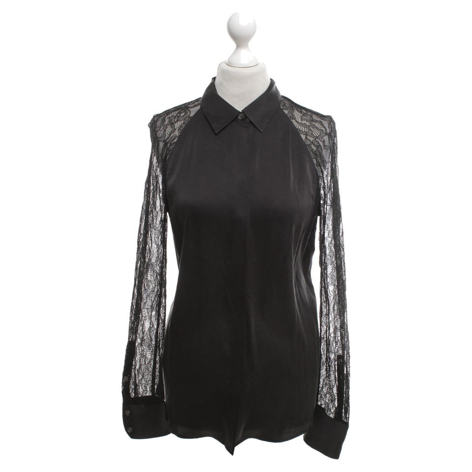equipment schwarze bluse mit spitze second hand. Black Bedroom Furniture Sets. Home Design Ideas