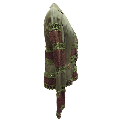 Christian Dior Vest met kant inzetstukken