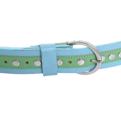D&G Leather belt in blue and green