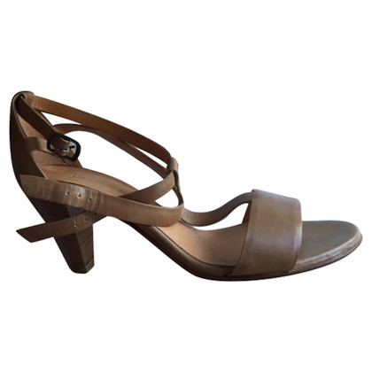 Other Designer Les Prairies de Paris-Nude strappy sandals