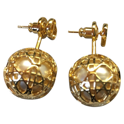 Christian Dior secret cannage earrings