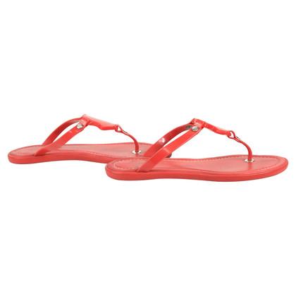 Moncler Rote Sandalen