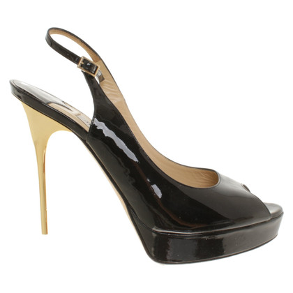 Jimmy Choo Patent leather peep-toes