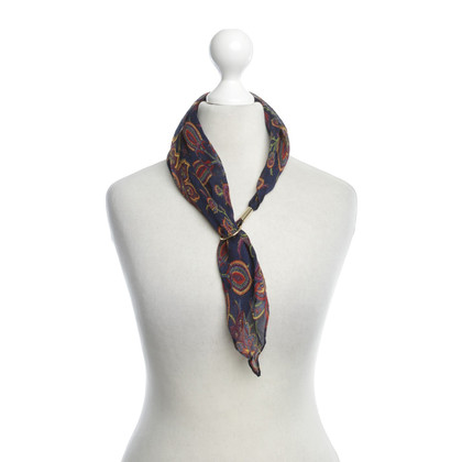 Blumarine Silk scarf with pattern