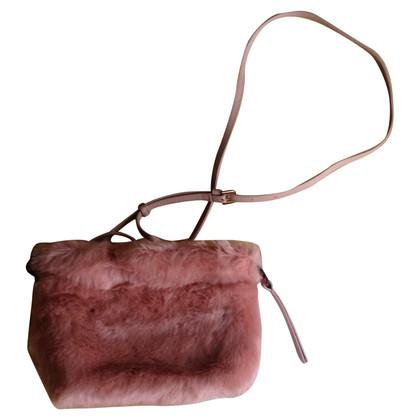 Furla Handtasche mit Webpelzbesatz