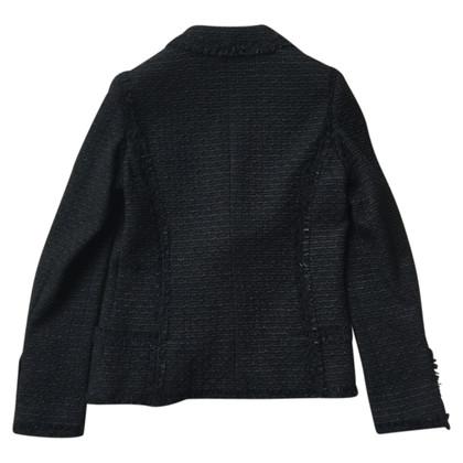 Chanel giacca di tweed nero