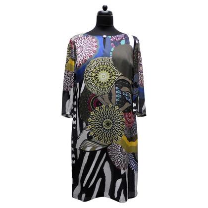 Luisa Cerano Silk dress with pattern