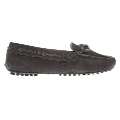 Car Shoe Moccasins in anthracite