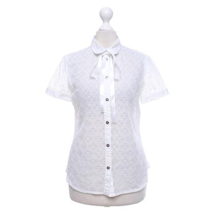 D&G Opengewerkte blouse met korte mouw