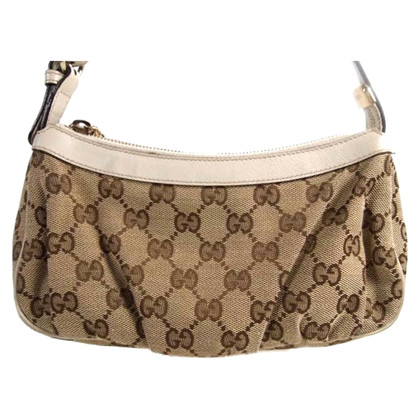 Gucci Clutch bag fabric and leather