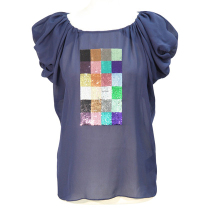 Ted Baker Transparent top in dark blue