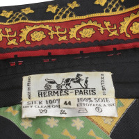 Hermès Silk costume with pattern