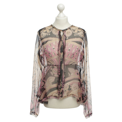 Emilio Pucci Silk blouse with patterns