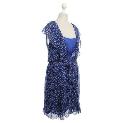 Diane von Furstenberg Polkadot dress in blue