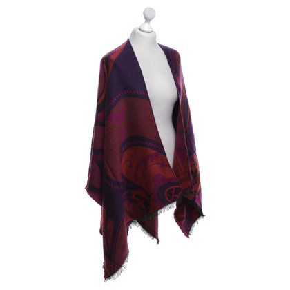 Etro Poncho with graphic pattern