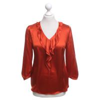Hugo Boss Zijden blouse in het rood