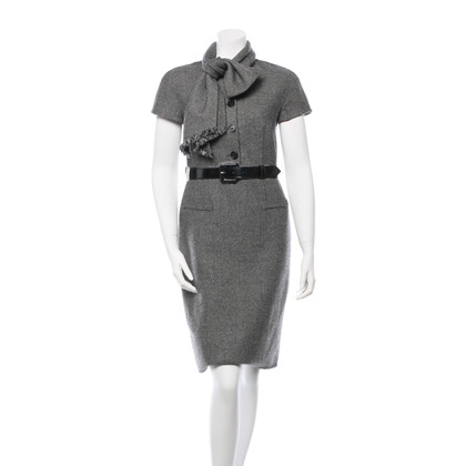 Christian Dior wool dress with scarf