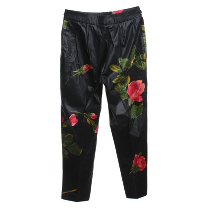 Blumarine trousers with floral pattern