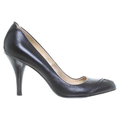Hugo Boss Peep-dita dei piedi in nero