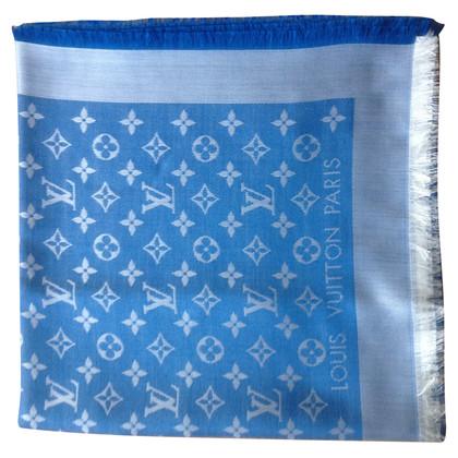Louis Vuitton Scialle Monogram Blue Jeans Denim