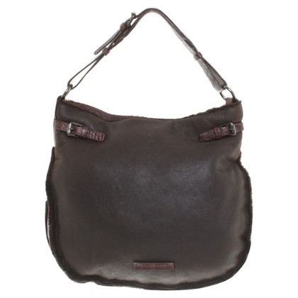Pollini Handbag with fur trim