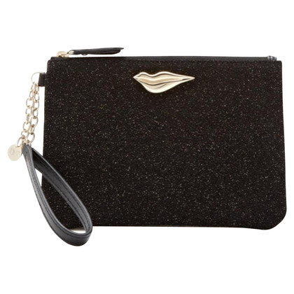 Diane von Furstenberg clutch in black