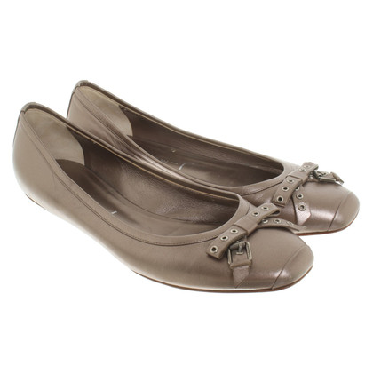 Casadei Metallic-gekleurde Ballerina's