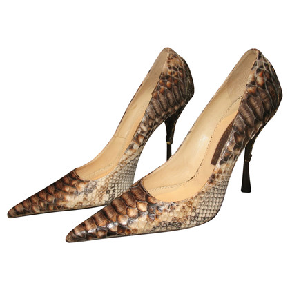 Gianmarco Lorenzi pumps made of python leather