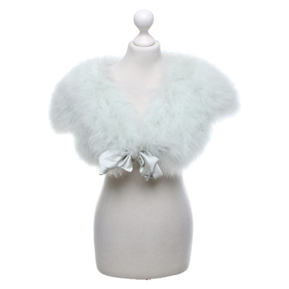 Christian Dior Mint colored feather bolero