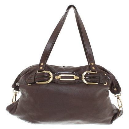 Jimmy Choo borsa di cuoio marrone