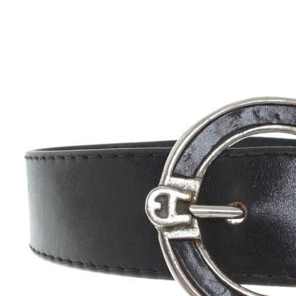 Aigner Leather belt with large buckle