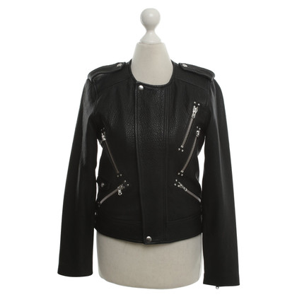 The Kooples Veste en cuir noir