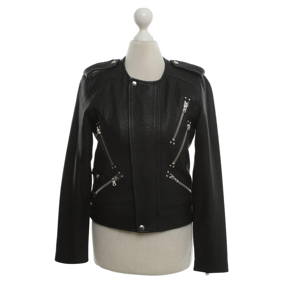 The kooples veste en cuir noir acheter the kooples veste en cuir noir second hand d 39 occasion - Verlicht en cuir noir ...
