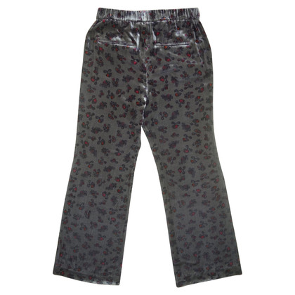 Dorothee Schumacher Velvet trousers with pattern