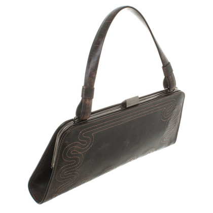 Strenesse Leather-clutch in dark brown
