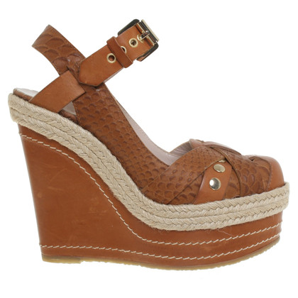 Mulberry Leather wedges