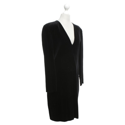 Armani Fluwelen jurk in zwart