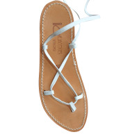 K Jacques White leather slave sandals