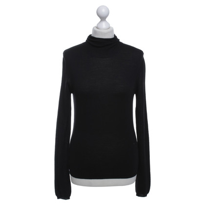 Jil Sander Roll collar sweater in black