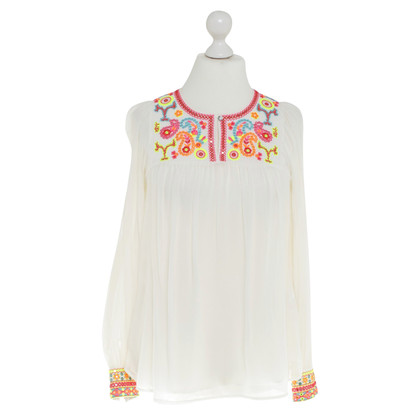 Matthew Williamson for H&M Seiden-Tunika in Creme/Multicolor