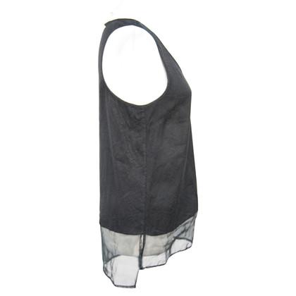 Reiss Silk top in black
