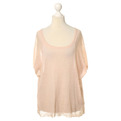 Dear Cashmere Gebreide top in abrikoos