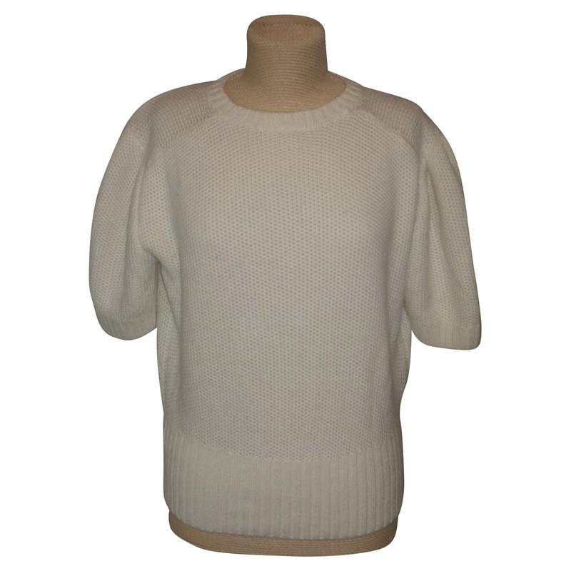 Manica Pullover Bianco Corta Hand In Second Miu 5gnqdP5