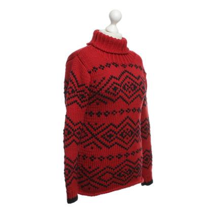 Prada Sweater in red/black