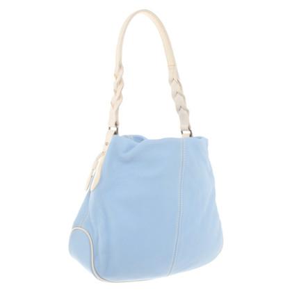 Aigner Handbag in blue and white