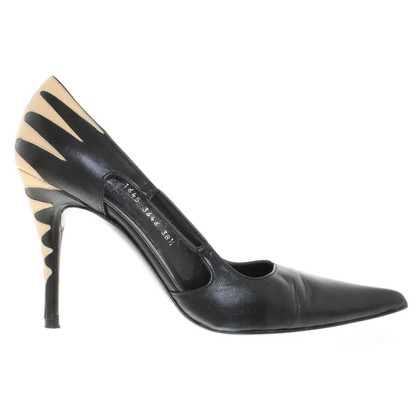 Pura Lopez pumps pelle in nero