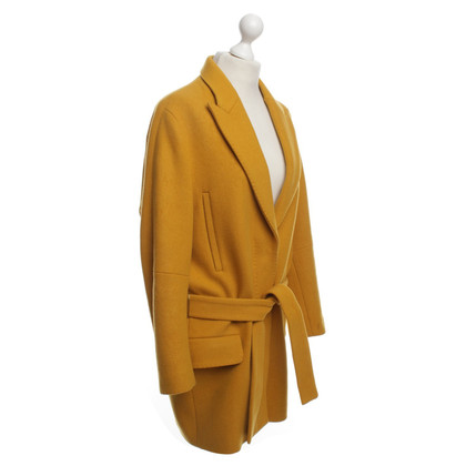 Acne Coat in Yellow