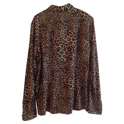Marc Cain blouse en soie avec motif léopard