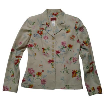 Kenzo blazer en soie avec motif floral